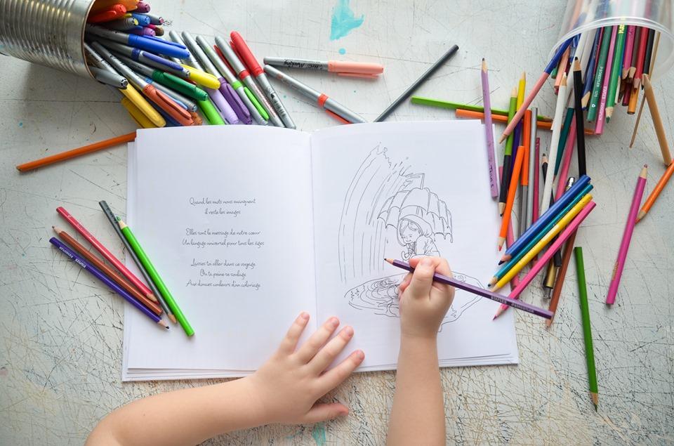 coloriage du livre