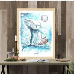 illustration numérisé de la baleine